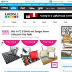 Win 1 of 3 $1,000 'Grand Designs' Home Collection prize packs!