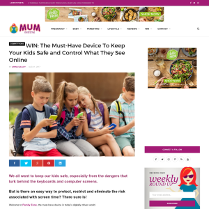 Win 1 of 3 12-month subscriptions to Family Zone