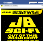 Win 1 of 3 $500 'JB Hi-Fi' gift cards!