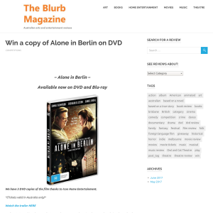 Win 1 of 3 Alone In Berlin DVDs,