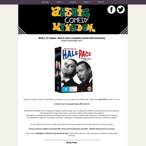 Win 1 of 3 Copies: Hale & Pace Complete Series DVDs