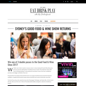 Win 1 of 3 double passes Good Food & Wine Show