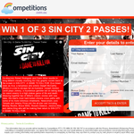 Win 1 of 3 Double Passes to Sin City 2