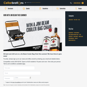 Win 1 of 3 Jim Beam Cooler Bag Chairs