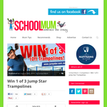 Win 1 of 3 'Jump Star' trampolines!