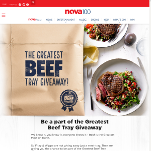 Win 1 of 3 Meat Trays/Vouchers Worth $1,000/$500/$200