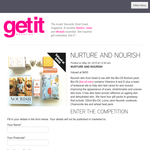 Win 1 of 3 Nurture and Nourish gift packs