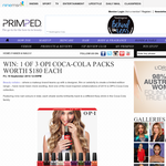 Win 1 of 3 OPI Coca-Cola packs worth $180 each!
