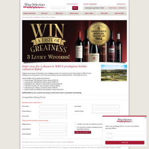 Win 1 of 3 Premium Wine Collection Prize Packs