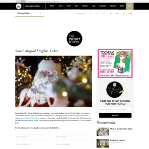 Win 1 of 3 Santa's Magical Kingdom family passes
