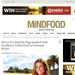 Win 1 of 3 Seafolly bags packed with Goulburn Valley Fruit in Coconut Water!