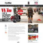 Win 1 of 3 ultimate Cyclist luggage packs!