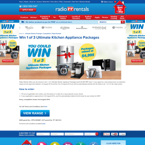 Win 1 of 3 ultimate kitchen appliance packages!