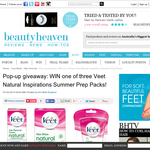 Win 1 of 3 Veet Natural Inspirations Summer Prep Packs!