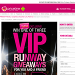 Win 1 of 3 VIP Runway giveaways for you & a friend!