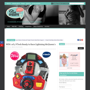 Win 1 of 3 VTech Ready to Race Lightning McQueen's