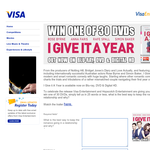 Win 1 of 30 copies of 'I Give It A Year' on DVD! (VISA Card Holders Only)
