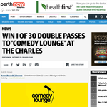 Win 1 OF 30 double passes to Comedy Lounge at The Charles Hotel