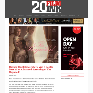 Win 1 of 30 double passes to The Beguiled preview screening
