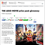 Win 1 of 30 'The LEGO Movie' prize packs!