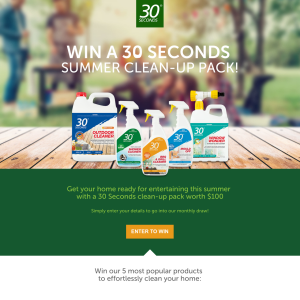 Win 1 of 4 30 Seconds Summer Clean-Up Packs