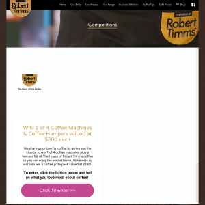 Win 1 of 4 coffee machines & coffee hampers, valued at $200 each!