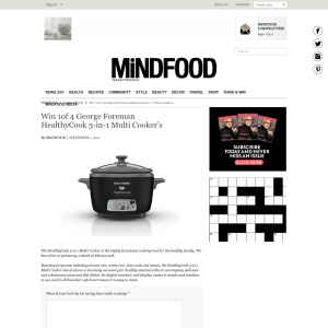 Win 1 of 4 George Foreman HealthyCook 5-in-1 Multi Cooker's