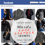 Win 1 of 4 men's or women's JAG luxe leather jackets!