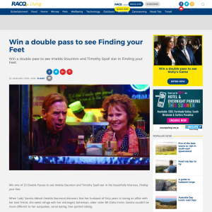 Win 1 of 40 double passes to see Finding your Feet
