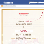 Win 1 of 40 gorgeous 'Burt's Bees' gift packs!