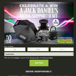 Win 1 of 400 'Ultimate Racing Supporter Kits' from Jack Daniels and Thirsty Camel!