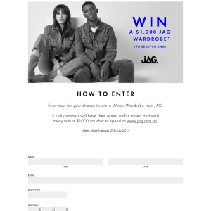 Win 1 of 5 $1,000 Online Vouchers