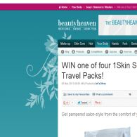 Win 1 of 5 1Skin Solution travel packs!