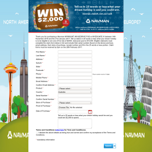 Win 1 of 5 $2,000 cash prizes!
