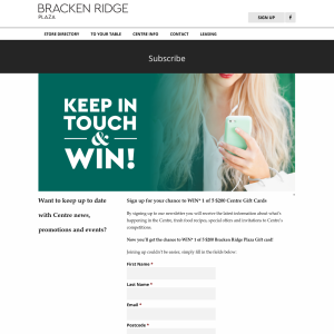 Win 1 of 5 $200 shopping centre vouchers