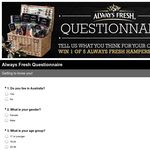 Win 1 of 5 Always Fresh Hampers