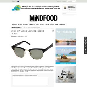 Win 1 of 5 'Cancer Council' polarised eyewear!