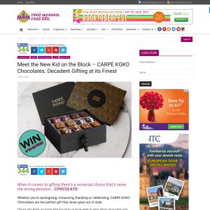 Win 1 of 5 CARPE KOKO 'Ambrosia' chocolate gift boxes!
