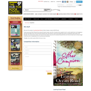 Win 1 of 5 copies of Leaving Ocean Road by Esther Campion