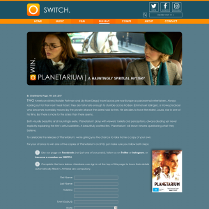 Win 1 of 5 copies of Planetarium on dvd