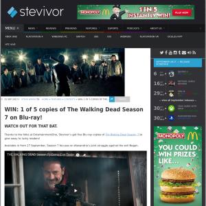 Win 1 of 5 copies of The Walking Dead Season 7 on Blu-ray