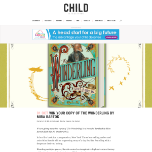Win 1 of 5 Copies of The Wonderling by Mira Bartók