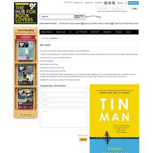 Win 1 of 5 copies of Tin Man by Sarah Winman