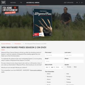 Win 1 of 5 copies of 'Wayward Pines' Season 2 on DVD!