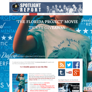 Win 1 of 5 double passes to see The Florida Project