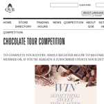 Win 1 of 5 double passes to the QVB Chocolate Tour!