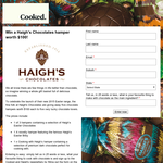 Win 1 of 5 Haigh's Chocolate hampers!