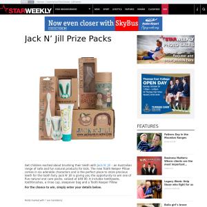 Win 1 of 5 Jack n' Jill children's oral care packs