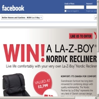 Win 1 of 5 La-Z-Boy Nordic recliners!