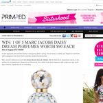 Win 1 of 5 Marc Jacobs 'Daisy' perfumes!